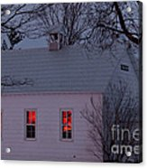 School House Sunset Acrylic Print by Cheryl Baxter