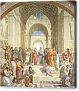 School Of Athens Acrylic Print by Raphael