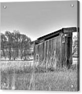School Outhouse Acrylic Print