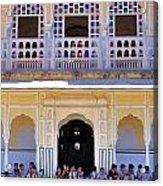 Schoolchildren At The Women's Palace - Jaipur India Acrylic Print