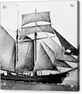 Schooner, 1888 Acrylic Print