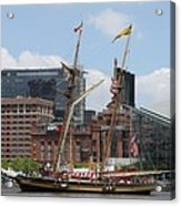 Schooner Arriving At Baltimore Inner Harbor Acrylic Print