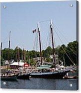 Schooner - Camden Harbor - Maine Acrylic Print