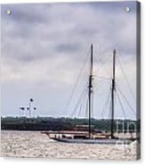 Schooner Sailing Past Fort Sumter Acrylic Print