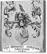 Schuyler Family Arms Acrylic Print