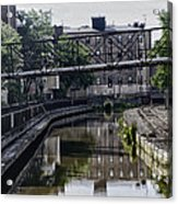 Schuylkill Canal In Manayunk Acrylic Print by Bill Cannon