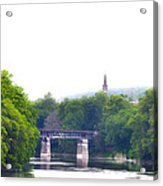 Schuylkill River At Manayunk Philadelphia Acrylic Print by Bill Cannon