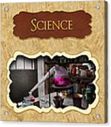 Science Button Acrylic Print by Mike Savad