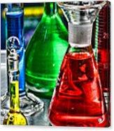 Science - Lab Glass Acrylic Print