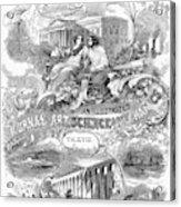 Scientific American, 1867 Acrylic Print