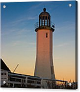 Scituate Lighthouse In Oct Acrylic Print