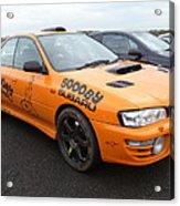 Scooby Subaru Acrylic Print