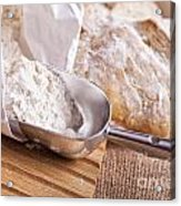Scoop Of Flour And Fresh Bread Acrylic Print