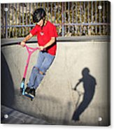 Scooter Flying Acrylic Print