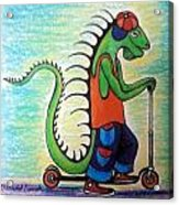 Scooter Iguana Acrylic Print