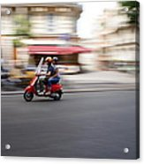 Scooter In Paris Acrylic Print