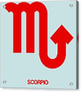 Scorpio Zodiac Sign Red Acrylic Print