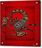 Scorpion On Red Acrylic Print