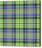Scott Ancient Green Tartan Acrylic Print