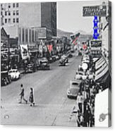 Scott Congress State Theater La Fiesta De Los Vaqueros Rodeo Banners Circa 1939 Tucson Az Acrylic Print