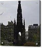 Scott Monument Inside The Princes Street Gardens In Edinburgh Acrylic Print