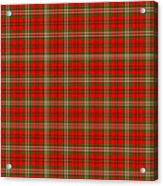 Scott Red Tartan Variant Acrylic Print by Gregory Scott
