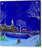 Scottie Sleigh Ride Acrylic Print
