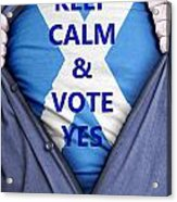 Scottish Businessman Votes Yes Acrylic Print
