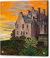 Scottish Gardens At Sunset Acrylic Print
