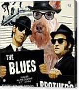 Scottish Terrier Art Canvas Print - The Blues Brothers Movie Poster Acrylic Print by Sandra Sij