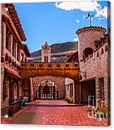 Scotty's Castle Courtyard Acrylic Print