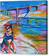 Scout the River Guard Acrylic Print