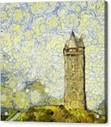 Starry Scrabo Tower Acrylic Print
