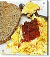 Scrambled Eggs And Salsa Acrylic Print