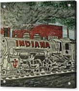 Scrapping Hoosiers Indiana Monon Train Acrylic Print