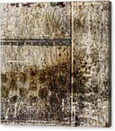Scratched Metal And Old Books Number 2 Acrylic Print