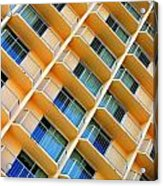 Scratchy Hotel Facade Acrylic Print