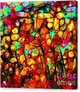 Scribble Flowers Acrylic Print