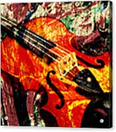 Scribbled Fiddle Acrylic Print