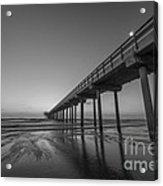 Scripps Pier Bw Acrylic Print