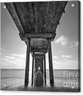 Scripps Pier La Jolla Long Exposure Bw Acrylic Print