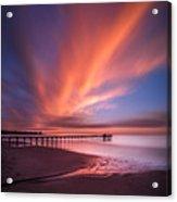 Scripps Pier Sunset - Square Acrylic Print