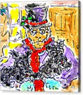 Scrooge And Scotties Acrylic Print