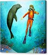 Scuba Diver One Acrylic Print