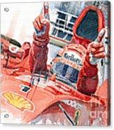 Scuderia Ferrari Marlboro F 2001 Ferrari 050 M Schumacher  Acrylic Print by Yuriy  Shevchuk