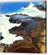 Sculpted Coastline Acrylic Print