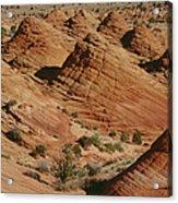 Sculpted Colorado Sandstone Paria Canyon Acrylic Print