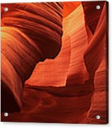 Sculpted Sandstone Upper Antelope Slot Canyon Arizona Acrylic Print