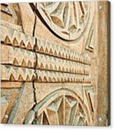 Sculpted Wooden Door Acrylic Print