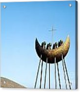 Sculpture Called To The Skellig By Eamon Doherty At Cahirciveen County Kerry Ireland Christian Monks Acrylic Print
